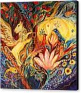 The Golden Griffin Canvas Print by Elena Kotliarker