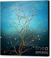 The Golden Tree Canvas Print by Bedros Awak