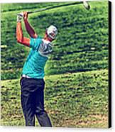 The Golf Swing Canvas Print by Karol Livote