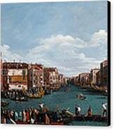 The Grand Canal At Venice Canvas Print by Antonio Canaletto