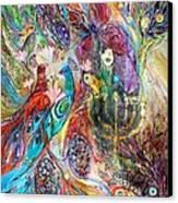 The Grapes And Menorah Canvas Print by Elena Kotliarker