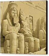 The Great Temple Of Abu Simbel Canvas Print