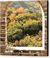 The Great Wall Window Canvas Print