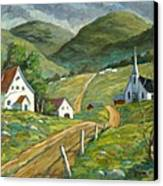 The Green Hills Canvas Print