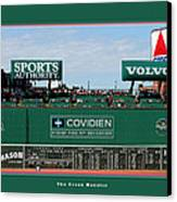 The Green Monster Fenway Park Canvas Print