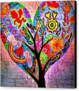 The Happy Tree Canvas Print by Denisse Del Mar Guevara