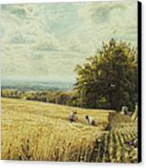 The Harvesters Canvas Print by Edmund George Warren