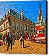The Heart Of New Orleans Canvas Print by Steve Harrington