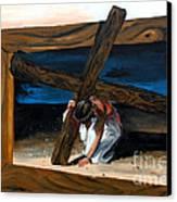 The Heaviest Cross To Bear Canvas Print by Linda Rae Cuthbertson