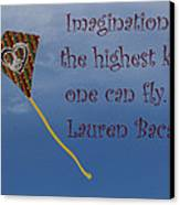 The Highest Kite Canvas Print by April Wietrecki Green