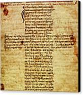 The Hippocratic Oath - Facsimile Canvas Print by Li   van Saathoff