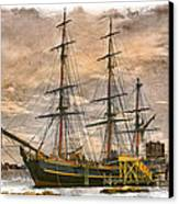 The Hms Bounty Canvas Print by Debra and Dave Vanderlaan