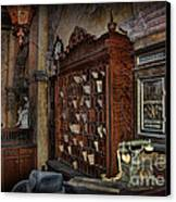 The Hollywood Roosevelt Hotel Reception Desk - Haunted Canvas Print by Lee Dos Santos
