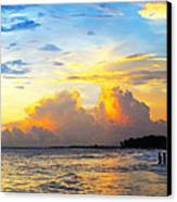 The Honeymoon - Sunset Art By Sharon Cummings Canvas Print by Sharon Cummings