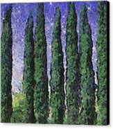 The Hushed Poetry Of Trees In The Night Canvas Print by Wendy J St Christopher
