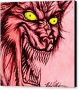 The Hyena Canvas Print by Michael Mestas