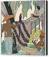 The Idle Beauty Canvas Print by Georges Barbier