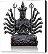 The Images Of Guanyin Black Canvas Print by Tosporn Preede