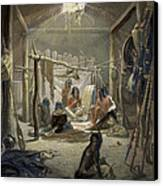 The Interior Of A Hut Of A Mandan Chief Canvas Print