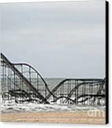 The Jetstar Rollercoaster In Seaside Heights Nj Canvas Print
