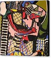 The Kiss Aka The Embrace After Picasso 1925 Canvas Print