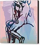 The Kissing - Rodin Stylized Pop Art Poster Canvas Print