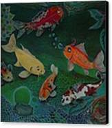 The Koi Life Canvas Print by Denisse Del Mar Guevara
