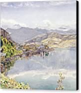 The Lake Of Lucerne, Mount Pilatus Canvas Print by John William Inchbold