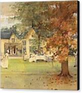 The Lawn Tennis Party Canvas Print by Arthur Melville