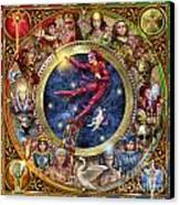 The Legacy Of The Devine Tarot Canvas Print by Ciro Marchetti