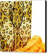 The Leopard Gift Bag Canvas Print by Diana Angstadt