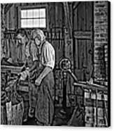 The Lesson Monochrome Canvas Print by Steve Harrington