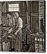 The Lesson Sepia Canvas Print by Steve Harrington