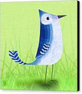 The Letter Blue J Canvas Print by Valerie Drake Lesiak