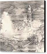 The Lighthouse Canvas Print by Beverly Marshall