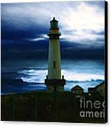 The Lighthouse Canvas Print by Cinema Photography