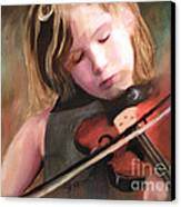The Little Violinist Canvas Print by Sharon Burger