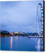 The London Eye Dawn Light Canvas Print by Donald Davis