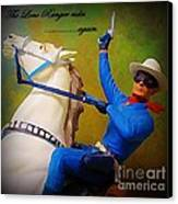 The Lone Ranger Rides Again Canvas Print by John Malone