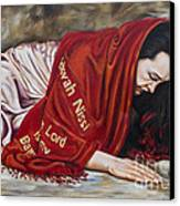 The Lord Is My Banner Yahweh Nissi Canvas Print by Ilse Kleyn