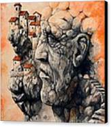 The Lost City - The Sentinel Canvas Print by Emerico Imre Toth