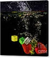 The Lucky 7 Splash Canvas Print