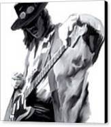 The Maestro   Stevie Ray Vaughan Canvas Print by Iconic Images Art Gallery David Pucciarelli