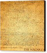 The Magna Carta 1215 Canvas Print