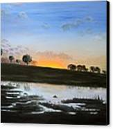 The March Of The Elephants Canvas Print by Pilar  Martinez-Byrne
