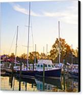 The Marina At St Michael's Maryland Canvas Print by Bill Cannon