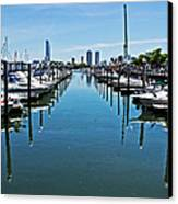 The Marina At The Golden Nugget Canvas Print by Tom Gari Gallery-Three-Photography