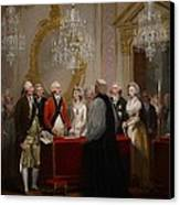 The Marriage Of The Duke And Duchess Of York Canvas Print by Henry Singleton