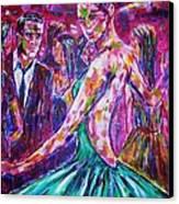 The Meeting Canvas Print by Linda Vaughon