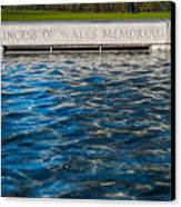The Memorial Fountain Canvas Print